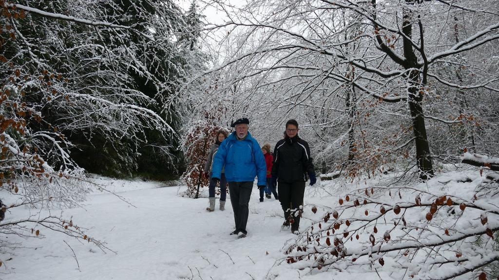 Trimmen in de sneeuw op 9 december 2017
