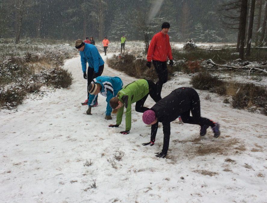 Hardlopen in de sneeuw 11 februari